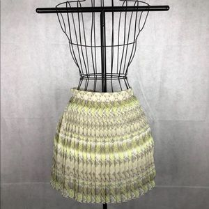Yellow, Beige and Grey American Eagle Skirt